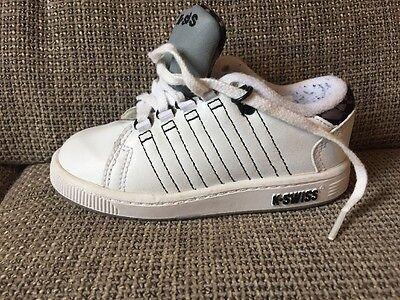 K-swiss Kleinkind (K-Swiss Tongue Twister Gr. 25 Weiß/Grau Sneaker Schuhe Baby/Kleinkind Turnschuhe)