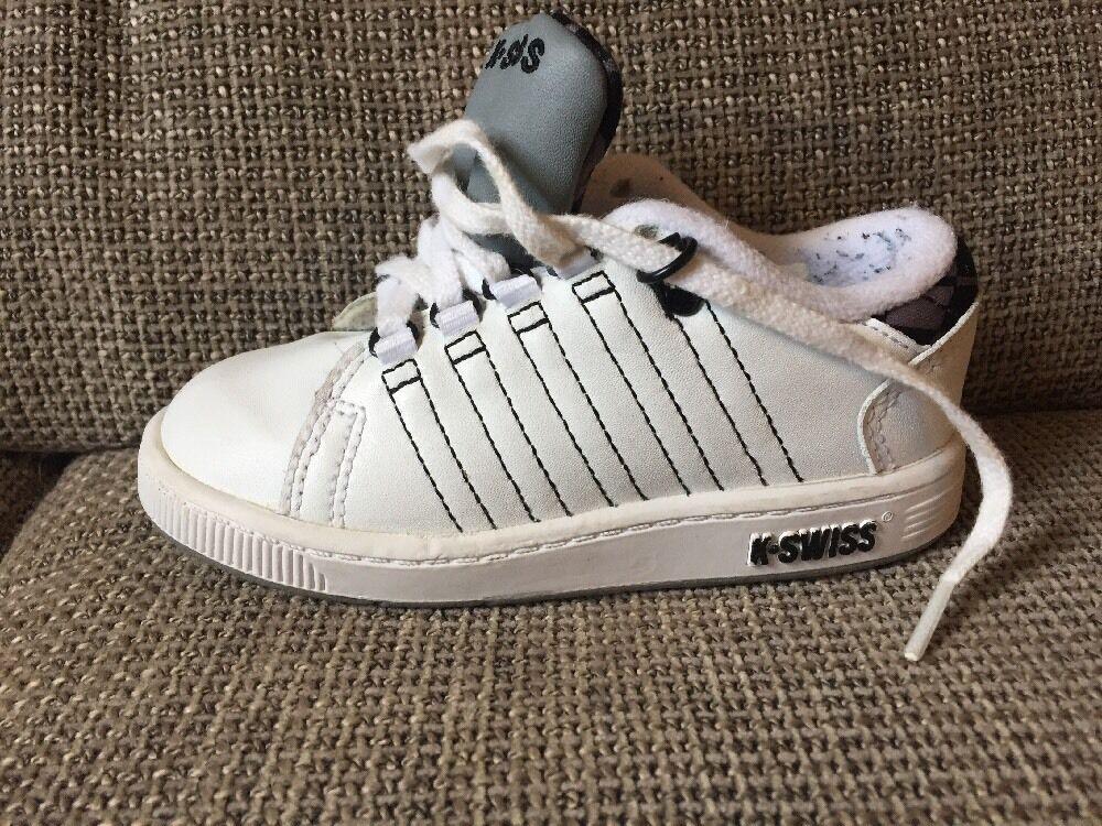 K-Swiss Tongue Twister Gr. 25 Weiß/Grau Sneaker Schuhe Baby/Kleinkind Turnschuhe