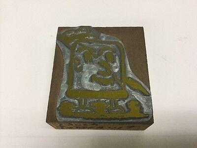 Vintage Letterpress Printers Block Metal And Wood