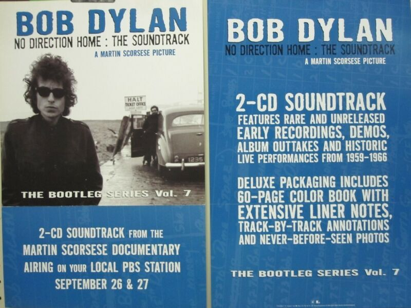 Bob Dylan 2005 No Direction Home 2 sided promo poster Flawless New Old Stock