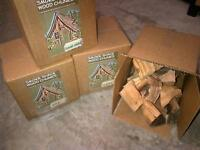 3 of the 10lb boxes of wood chunks for smoker bbq 14 varieties