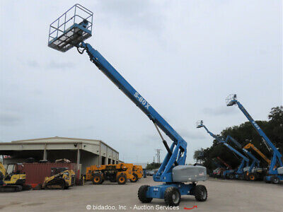 2012 Genie S-80x 80 4wd Diesel Articulating Boom Lift Man Aerial Bidadoo