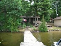COTTAGE RENTAL MUSKOKA PRIVATE WITH GUEST CABIN 2 weeks left