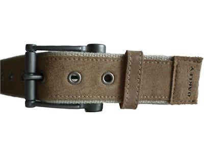 Oakley Repeat Stretch Vintage Designer Belt Screen Print Beige Genuine - New - (Vintage Designer Belts)