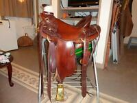 Jason McKenzie Custom Made Saddle Roping Cliff Wade Visalia