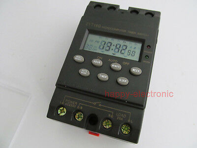 Din Rail Digital Timer Switch Automatic Program Lcd Program Timer 220vac 25a