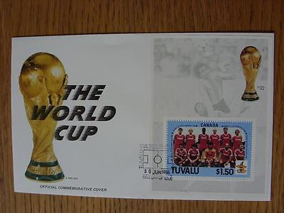 30/06/1986 World Cup Postal Cover: CC 1045 - The World Cup and Trophy - Stamp: Can
