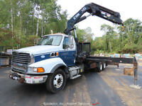 2009 Sterling L90 13 Ton Hiab Knuckle Boom Crane Truck Tri/A Flatbed PTO bidadoo