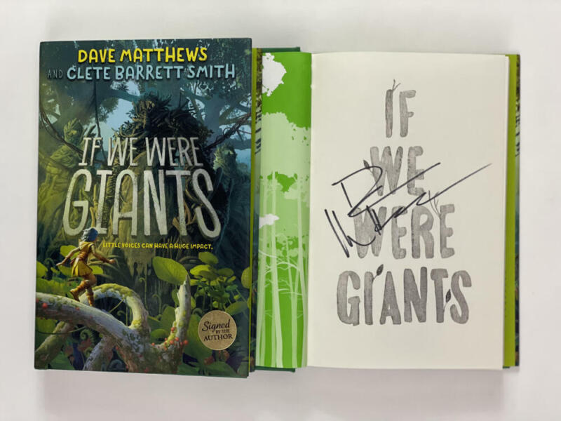 """DAVE MATTHEWS BAND SIGNED AUTOGRAPH """"IF WE WERE GIANTS"""" BOOK - BIG WHISKEY RARE!"""