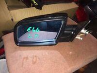 For Sale BMW E46 2003 4door P/Side Door Mirror Complete Black Breaking