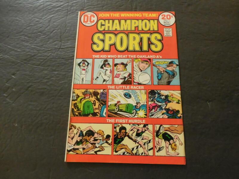Champion Sports #1 Nov 1973 Bronze Age DC Comics                 ID:27118