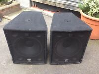 Wharfedale Pro LX-18B - pair of bass bins / subs 800 watts each