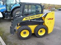 New Holland L213 skidseer loader, ex-demo, 88hours