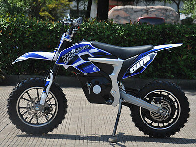 MOTO TEC 36v 500W ELECTRIC BLUE DIRT BIKE MOTORCYCLE SCOOTER AGES 13 & UP E-BIKE