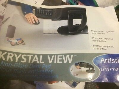 Artistic Krystal View Non Glare Desk Pads 12x17 works as mouse pad (Artistic Krystal View Desk Pad)