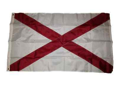 3x5 Embroidered State of Alabama 210D Sewn Nylon Flag 3'x5' Premium Quality