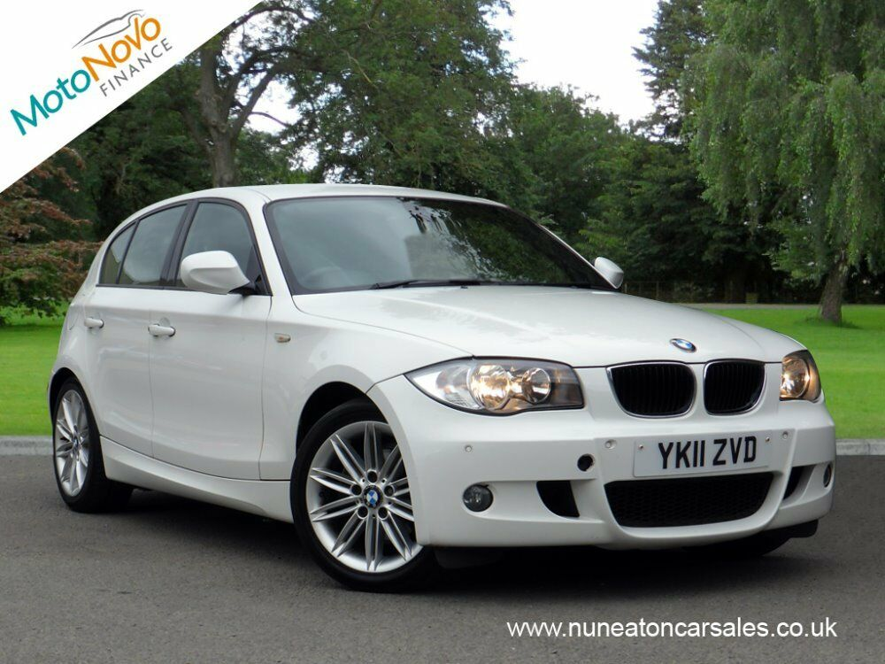bmw 1 series 118d m sport white 2011 in hinckley. Black Bedroom Furniture Sets. Home Design Ideas
