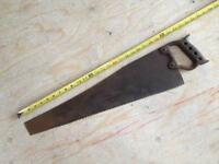 Antique steel handled ice saws & dock saws