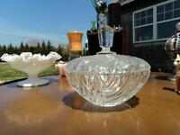 Beautiful glass candy dish