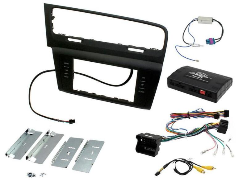 Connects2 CTKVW09L VW Golf MK7 2013 On Double Din Stereo Facia Fitting Kit LHD