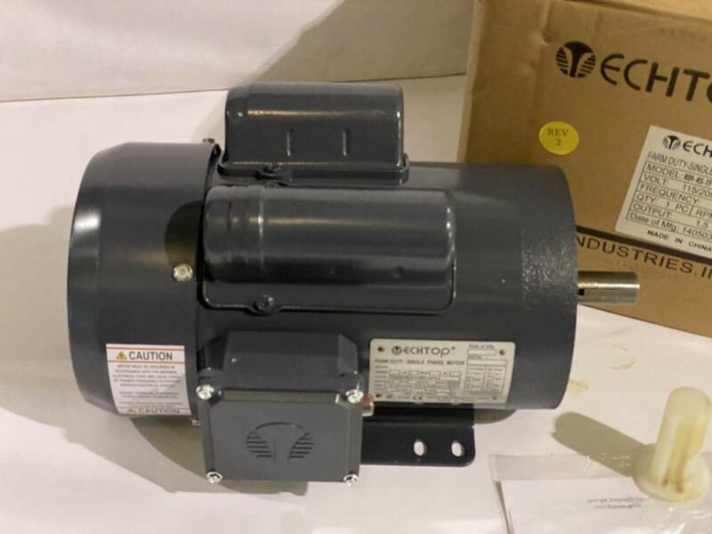 TECHTOP  AC MOTOR  1.5 HP 1730 RPM TEFC 115/208/230V 145TC FRAME  1 PHASE MOTOR