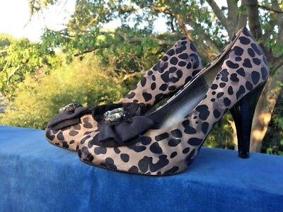 CANDIES Vintage Leopard Stilettos High Heels PLAYBOY Womens Shoes Size 9.5 👠 - Playboy Womens Shoes