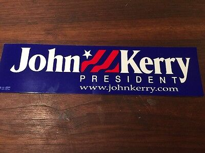Official 2004 John Kerry Presidential Campaign bumper sticker (Presidential Campaign Memorabilia)