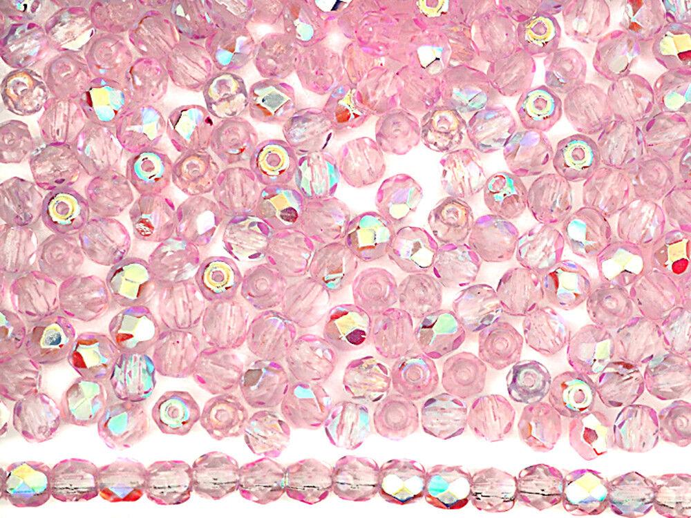 300 czech glass fire polished round beads