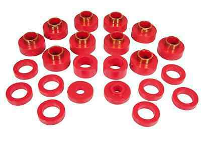 Prothane 80 86 Jeep Cj5   Cj7 Body Mount Bushing Kit Red Polyurethane Bushing