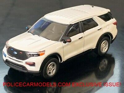 Greenlight 1/64 2020 Ford PI Utility Police SUV BLANK WHITE FOR CUSTOMS 51382A