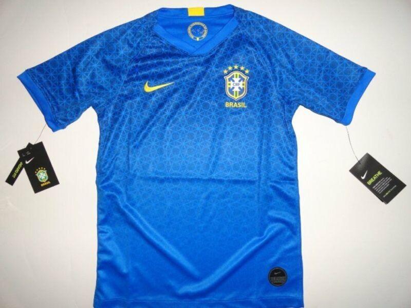 NWT Nike Youth Large 14-16 Brasil Football Soccer Away Jersey Unisex