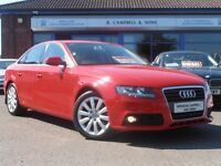 2010 Audi A4 SE TDI 6 Speed 143BHP 4 Door Saloon In Red