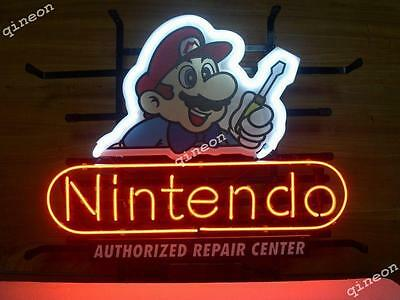 New Nintendo Repair Center Man Super Mario Game Room Store Real Neon Light Sign