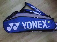 YONEX BADMINTON SPORTS HOLDALL 4-6 RACKETS BAG 2 SHOULDER STRAPS LARGE SHOE