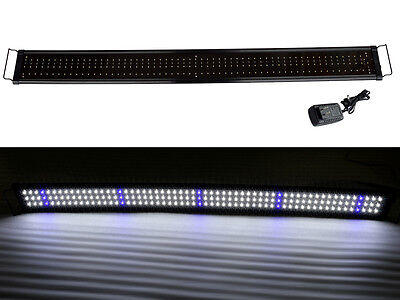 "48"" Extendable Aquarium Bright Lunar LED Light Freshwater Marine Fish Tank 120cm"