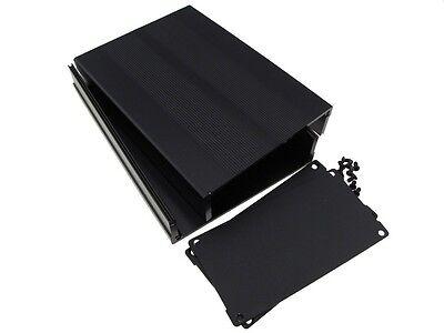 Hq Aluminum Project Box Enclousure Diy 15010555mm - Black