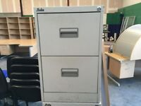 2 drawer filing cabinet- second hand but in good condition