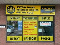Payday Loan, Gold Buying & U-Haul Rentals and Moving Supplies