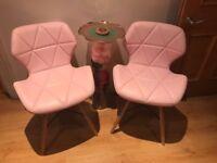 Pretty pink modern chairs