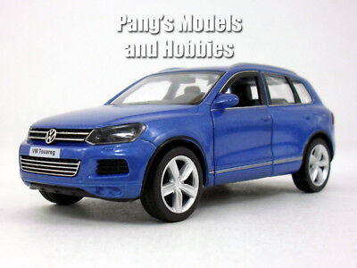 5 Inch Vw   Volkswagen Touareg Crossover Suv Scale Diecast Metal Model   Blue