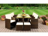 **FREE & FAST UK DELIVERY** 10 Seater Outdoor Rattan Garden Conservatory Furniture Set