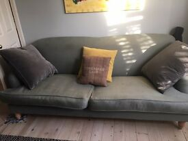 Bluebell three seater linen sofa