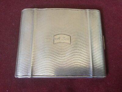 Art Deco German Silver Plated Stylish Kraft Alpacca Cigarette Case Circa 1930s