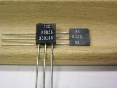 2 Vishay S102k 8k .4w .01 Bulk Metal Foil High Precision Resistors
