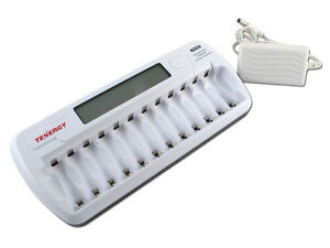 Tenergy-TN160-12-Bay-AA-AAA-Battery-Charger-NiMH-NiCd-Automatic-Fast-Charging
