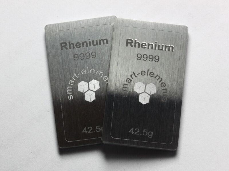 RHENIUM metal bullion bar - ingot - 41.7 grams