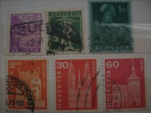 Selling My Stamp Collection---Switzerland Lot