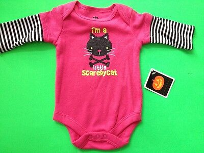 1-PC CREEPER FOR BABY HALLOWEEN 'I'M A LITTLE SCAREDYCAT' 2 SZS AVAIL: NB & 0-3M](Halloween Costumes For A Baby)