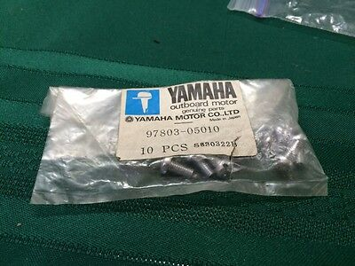 10 New Yamaha Marine Boat Motor Screw Pan Head Screws 97803-05010, used for sale  Shipping to South Africa