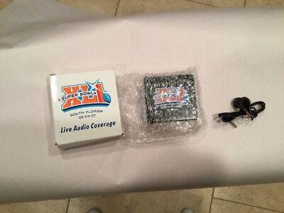 2007 Super Bowl Xli Football Game Live Audio Coverge Radio In Box